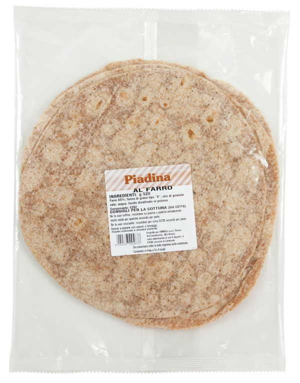 Spelled flour Piadina gr.520