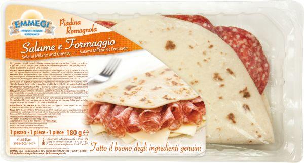 Piadina farcita Salame / Formaggio gr.180