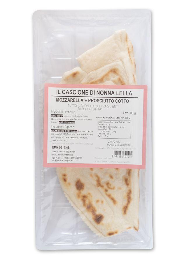 Cassone Mozzarella/Prosciutto cotto gr.200