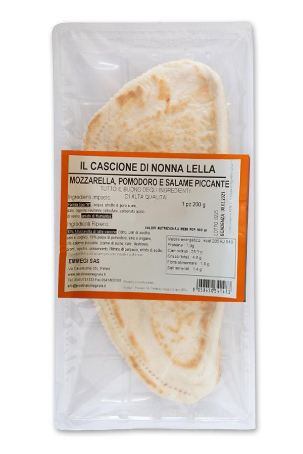 Cassone Tomato / Mozzarella / Spicy salami gr.200